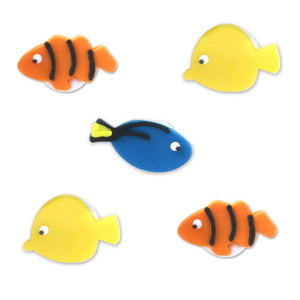 Anniversary House - 5 Tropical Fish Sugarcraft Toppers Blue