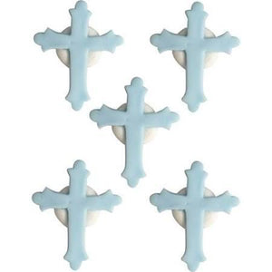 Anniversary House - 5 Cross Sugarcraft Toppers Blue