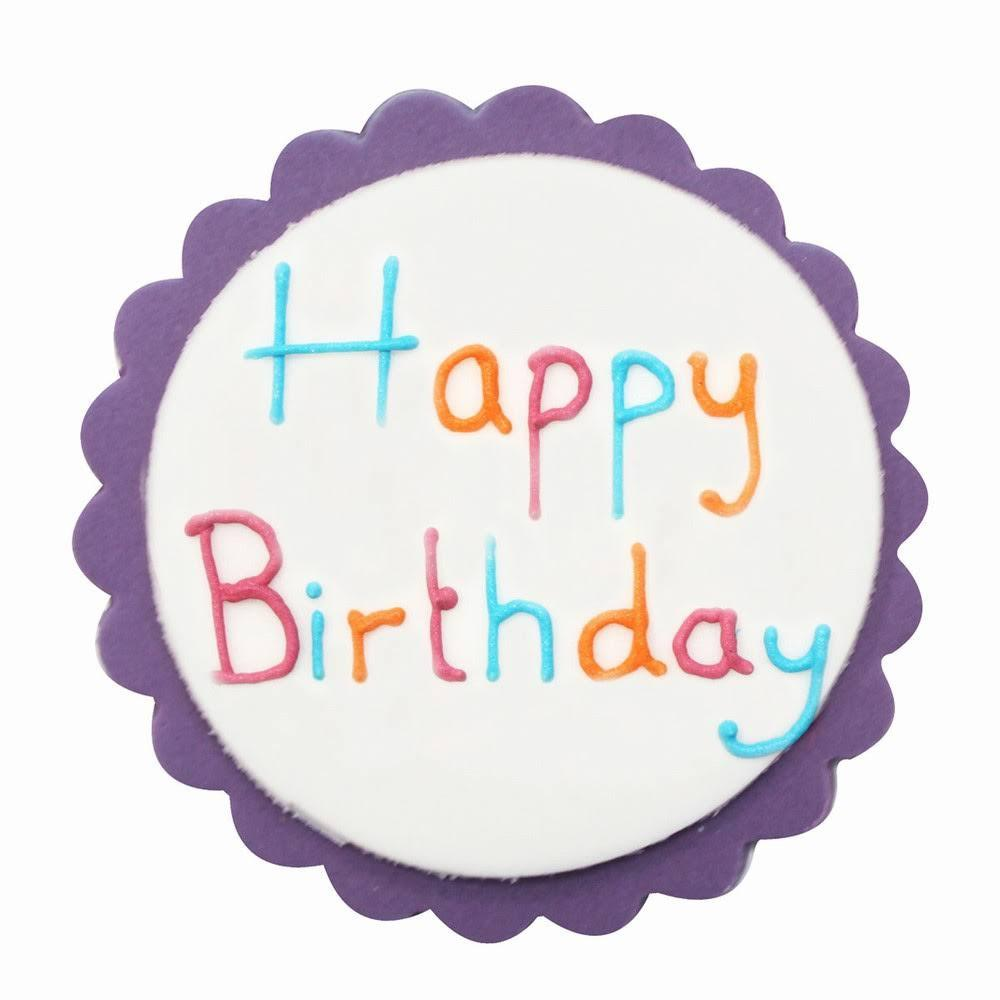 Anniversary House - Bright & Bold Happy Birthday Sugarcraft Plaque