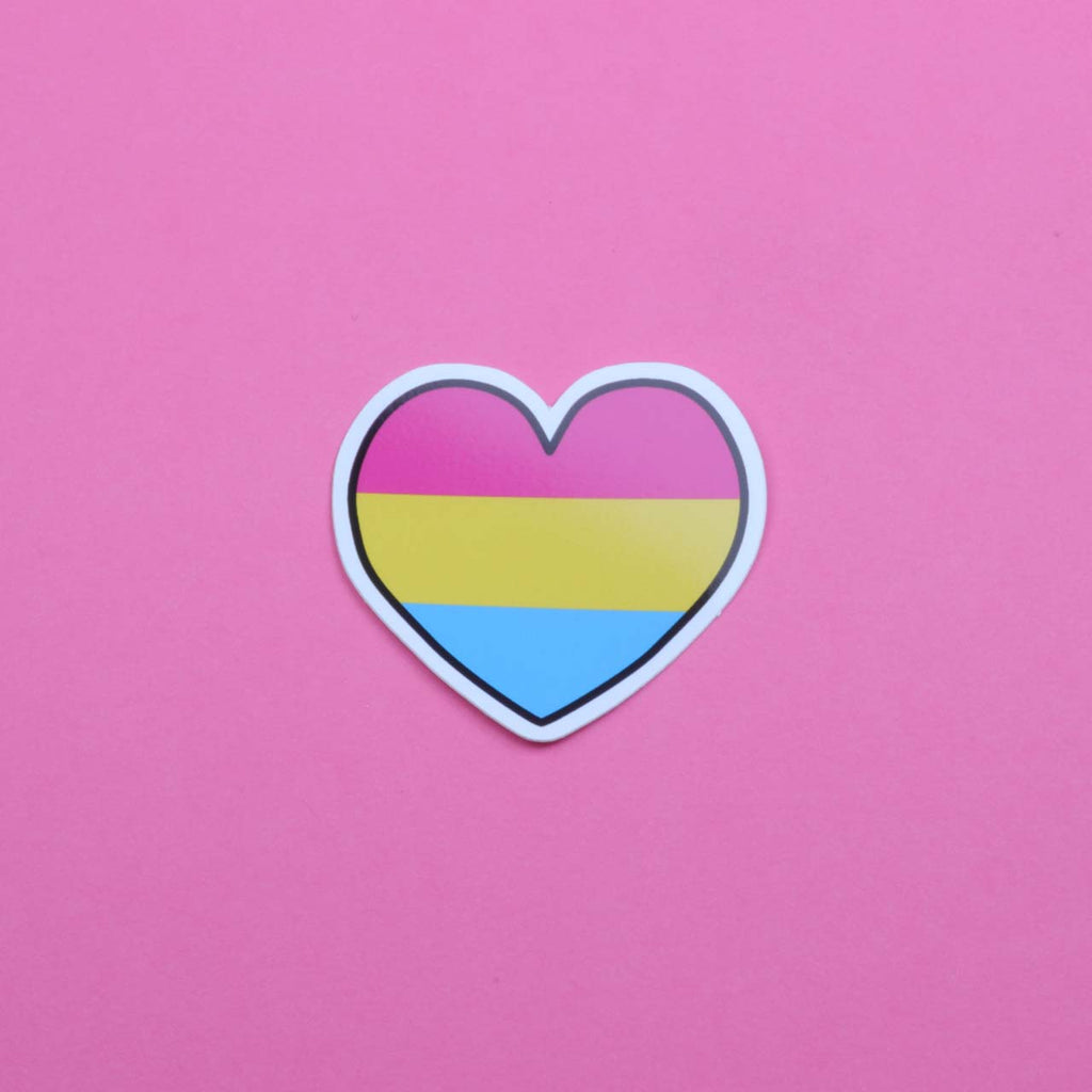 Pansexual Heart Sticker