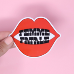 [Product_type] - Femme Fatale Sticker - agnes-and-edie.myshopify.com