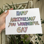 Happy Anniversary You Wonderful Gay Card