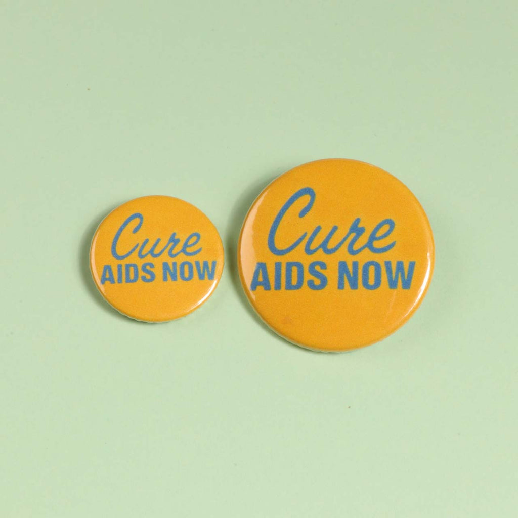 Cure AIDS Now Badge