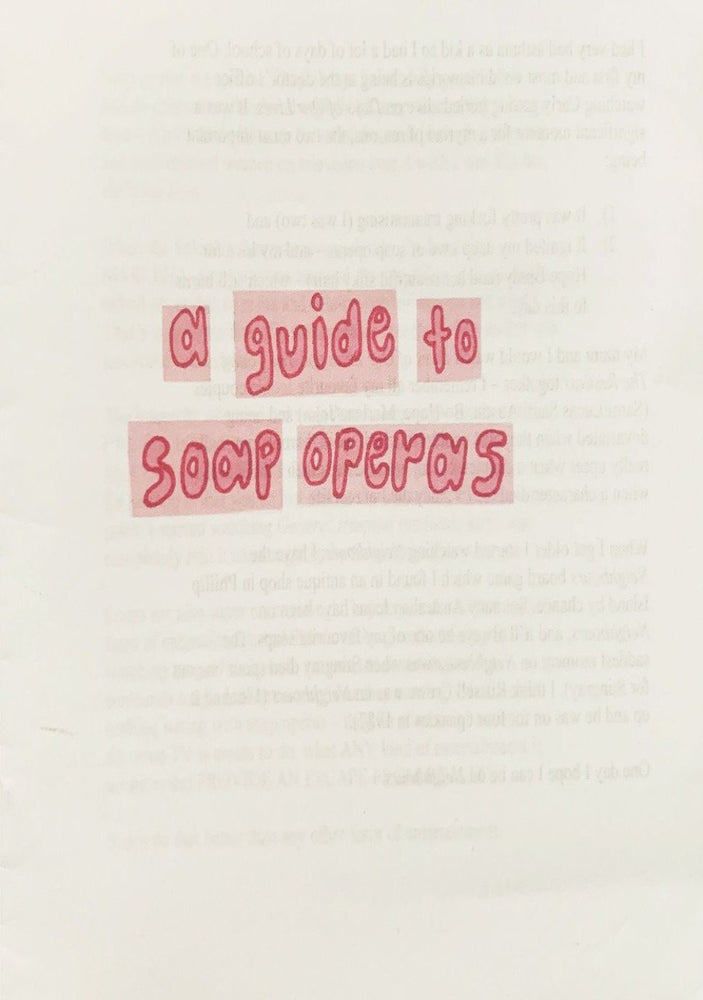 [Product_type] - A Guide to Soap Operas Zine - agnes-and-edie.myshopify.com