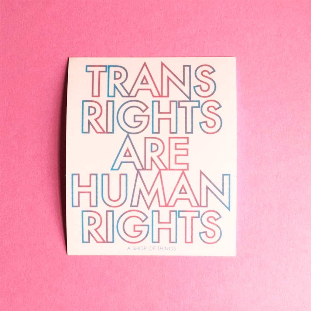[Product_type] - Trans Rights Are Human Rights Sticker - agnes-and-edie.myshopify.com