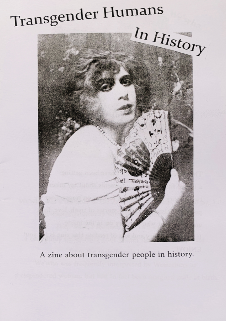 [Product_type] - Transgender Humans In History Zine - agnes-and-edie.myshopify.com