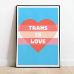 Trans Is Love Print