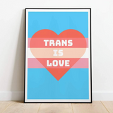 [Product_type] - Trans Is Love Print - agnes-and-edie.myshopify.com