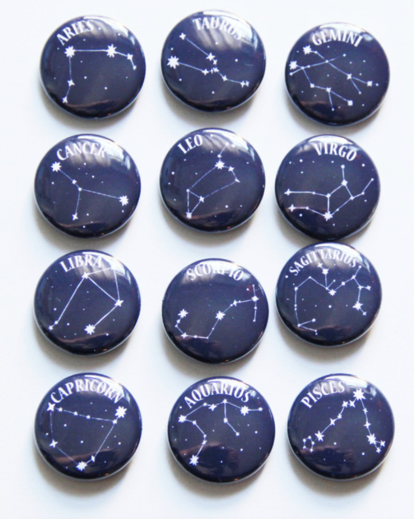Astrology Badges - Black