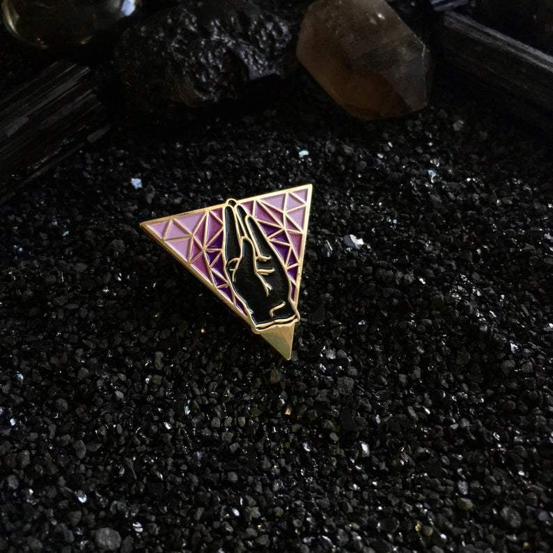 [Product_type] - Amethyst Fist Pin - agnes-and-edie.myshopify.com
