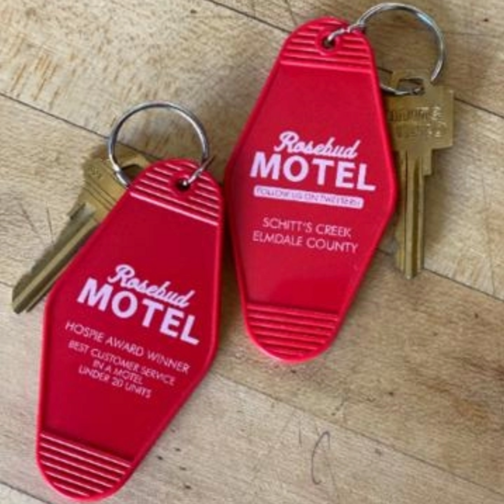 Schitts Creek Rosebud Motel Keyring