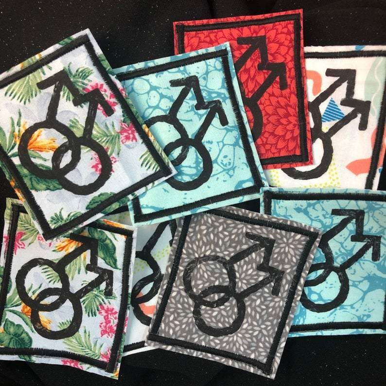 [Product_type] - Gay Symbol Handmade Iron-on Patches - agnes-and-edie.myshopify.com