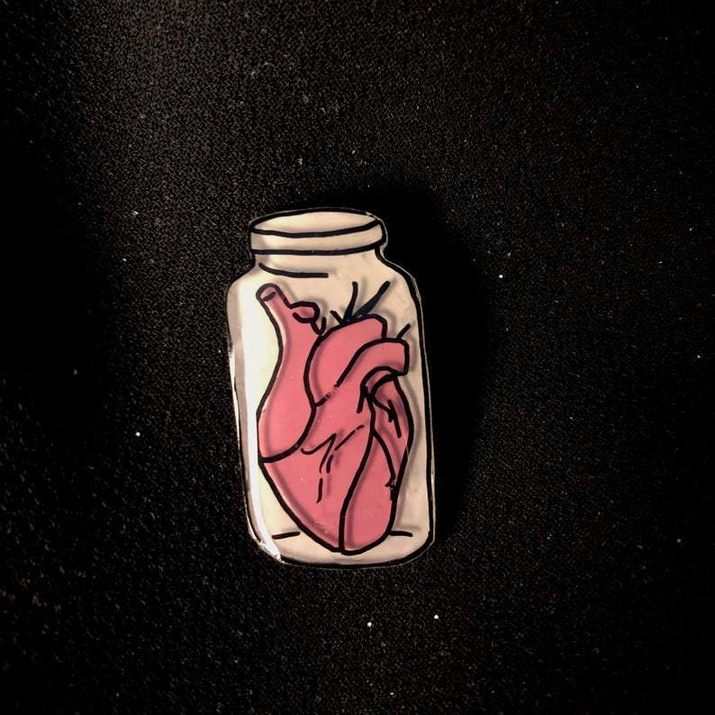 [Product_type] - Heart in a Jar Pin - agnes-and-edie.myshopify.com