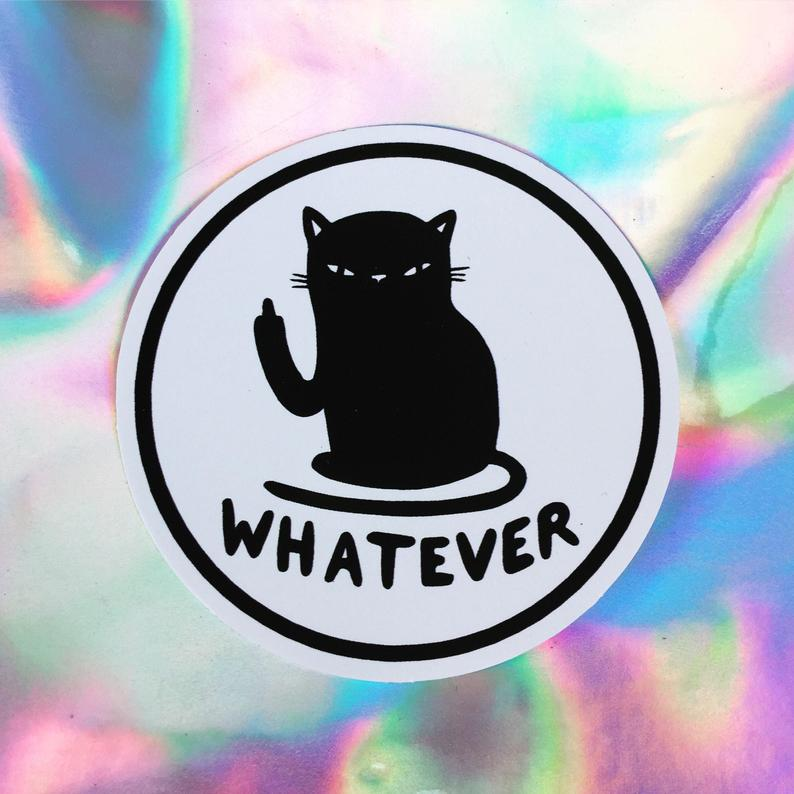 [Product_type] - Whatever Sticker - agnes-and-edie.myshopify.com