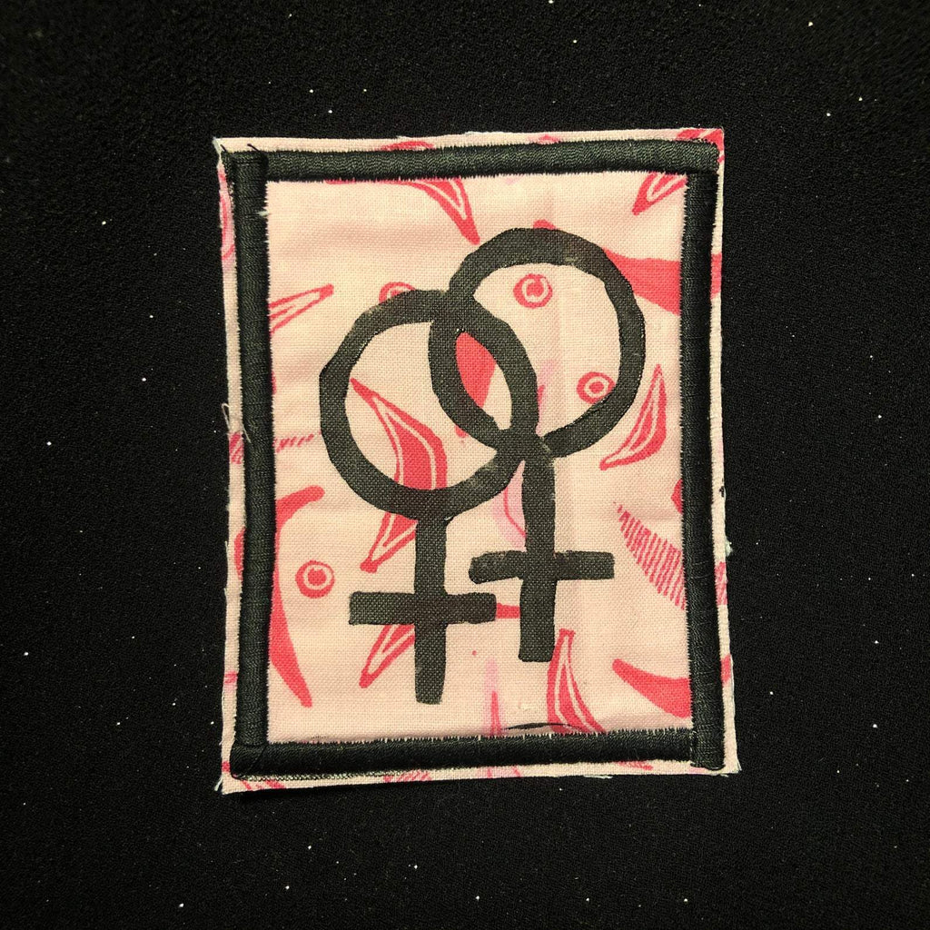 [Product_type] - Lesbian Symbol Handmade Iron-on Patch - agnes-and-edie.myshopify.com