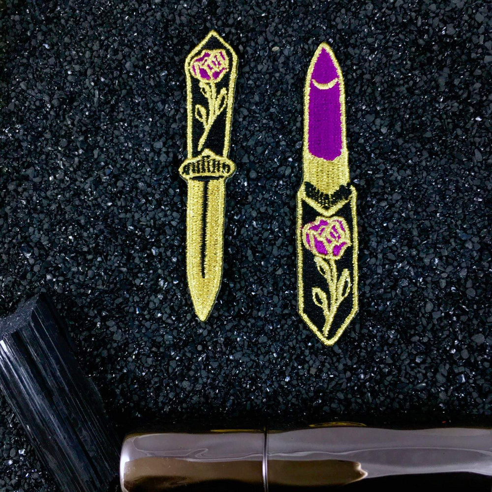 [Product_type] - Lipstick + Dagger Patch Set - agnes-and-edie.myshopify.com
