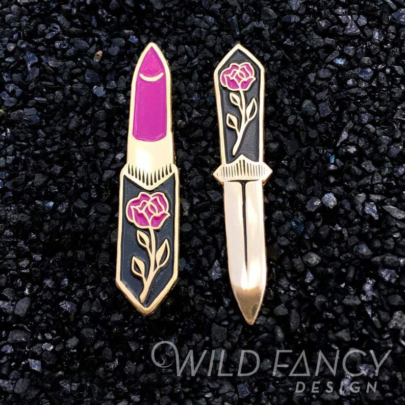 [Product_type] - Lipstick + Dagger Pin Set - agnes-and-edie.myshopify.com