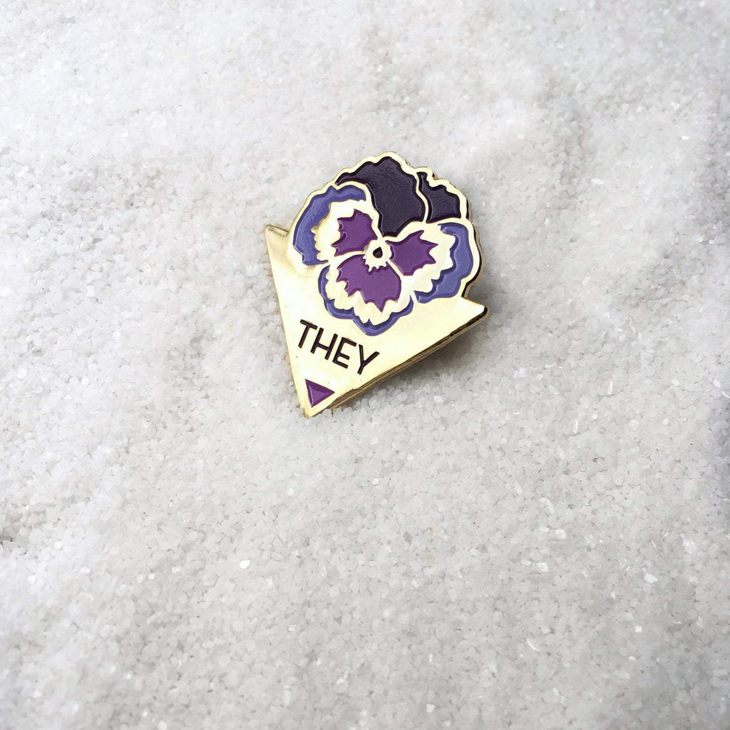 [Product_type] - They Pansy Pin - agnes-and-edie.myshopify.com