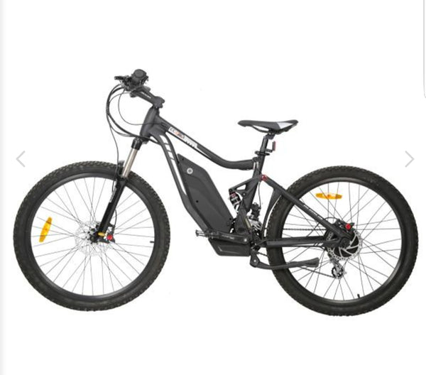 The Tornado 750w 48v 12ah Full suspension electric mountain bike