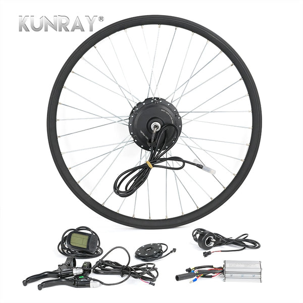 "Electric Bike Conversion Kit 36V 350W Front Wheel Hub Motor 16"" to 28"" With LCD"