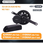 Bafang BBS02B Mid Motor Kit 48V 750w with 48v battery / BBS02 48v13/17ah 52v13/17.5ah battery