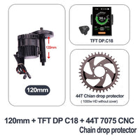 Bafang BBSHD 48V 1000w motor electric bike conversion kit