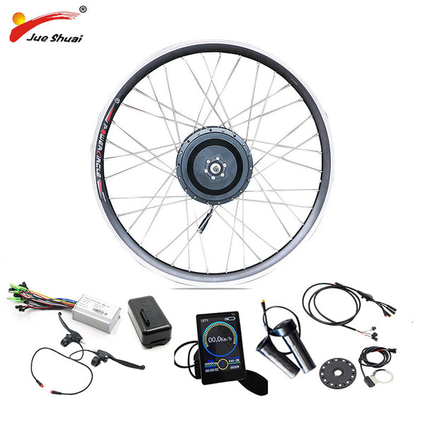 Electric Bike 48V 500W Conversion Kit for 20 24 26 700C 28 29in Hub Wheel Motor