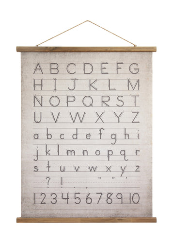 canvas wood scroll wall decor alphabet numbers
