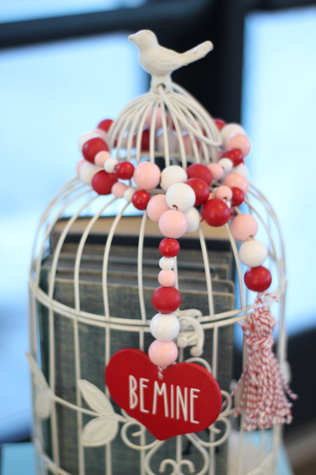 Valentine Be Mine Bead Garland