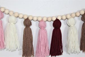 Blush Yarn Tassel Garland
