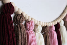Load image into Gallery viewer, Blush Yarn Tassel Garland