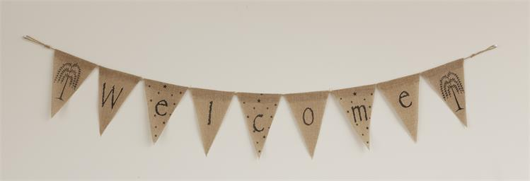 Welcome Burlap Banner
