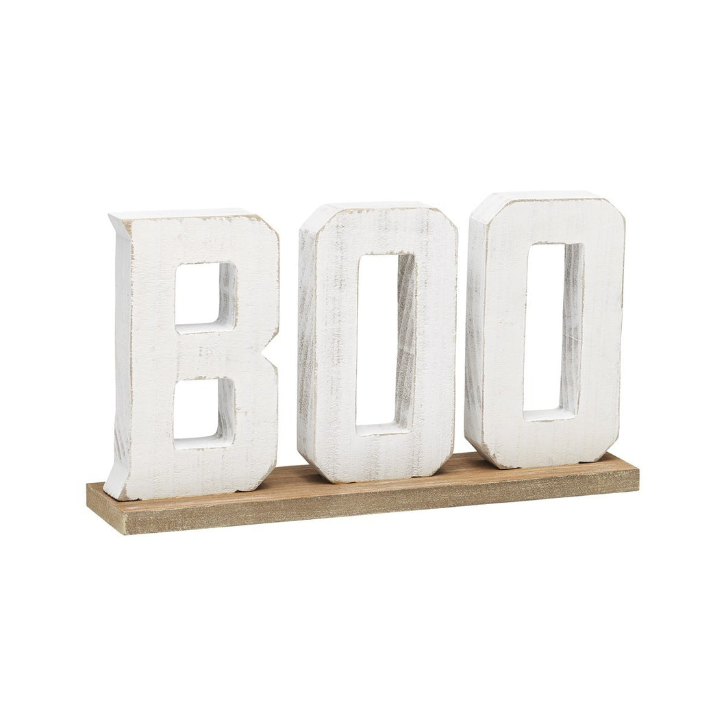 Boo Tabletop Sign Wood