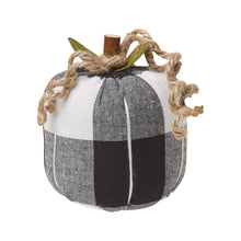 Load image into Gallery viewer, Pumpkin Sitter - Black and White Checker in three sizes
