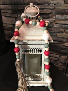 Christmas Farmhouse Wood Bead Garland