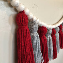 Load image into Gallery viewer, Christmas Sparkle Yarn Tassel Garland