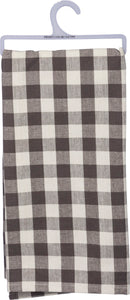 Small buffalo check dish towel