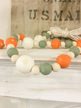 Load image into Gallery viewer, Fall Farmhouse Wood Bead Garland