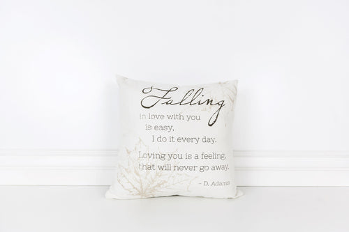 Canvas pillow-Falling in love with you is easy