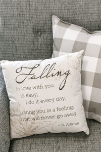Canvas Pillow-Falling Love