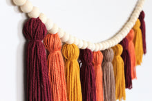 Load image into Gallery viewer, Fall Yarn Tassel Garland