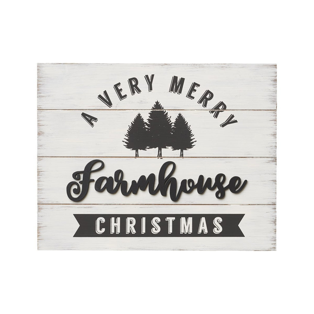 Farmhouse Christmas 3D pallet sign