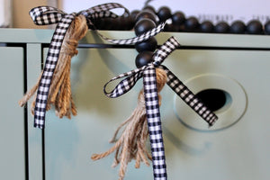 Farmhouse Wood Bead Garland in Black