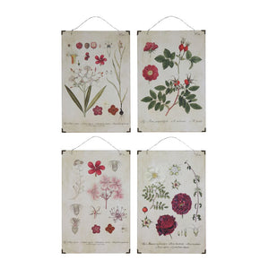 floral wood wall hangings in four styles