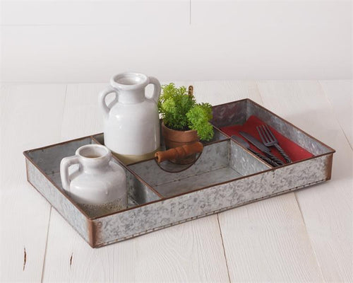 Divided Galvanized Tray