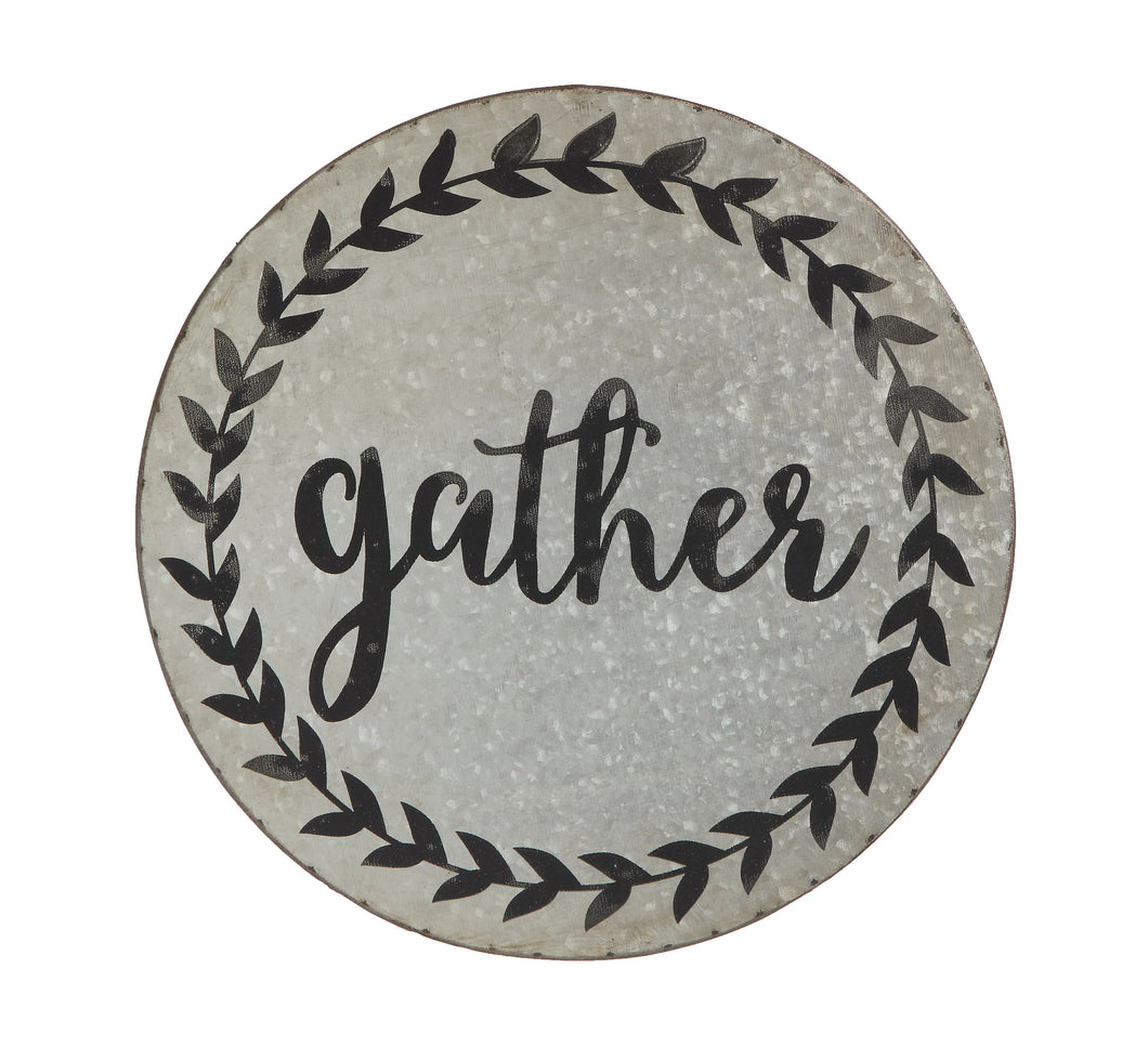 round tin wall decor gather