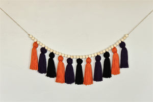 Halloween Yarn Tassel Garland