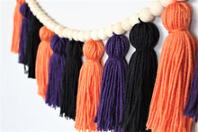 Load image into Gallery viewer, Halloween Yarn Tassel Garland