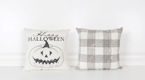 canvas pillow happy halloween