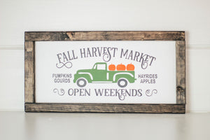 Harvest Market Wood Sign